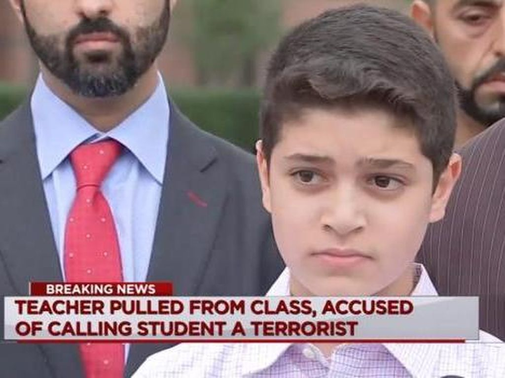 Bocah Muslim AS Disebut Teroris oleh Gurunya