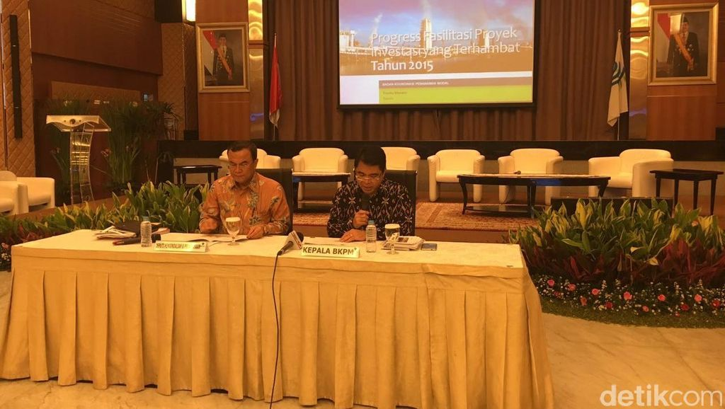 BKPM Fasilitasi 95 Proyek yang Terhambat Senilai Rp 487 Triliun