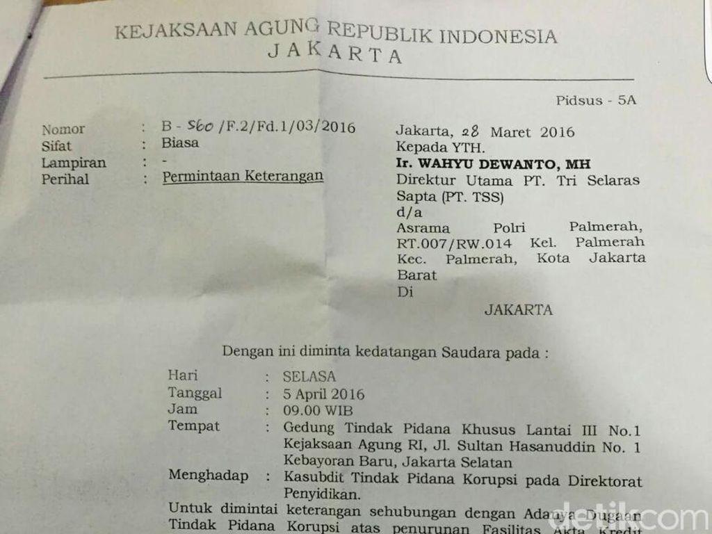 Ada Surat Permintaan Keterangan dari Kejagung kepada Wahyu Dewanto