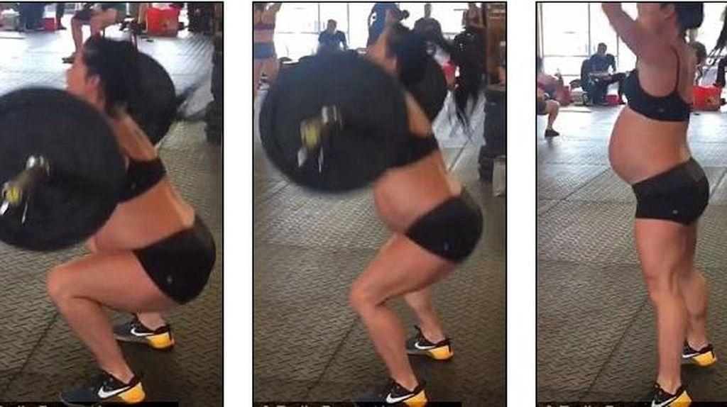 Hamil 34 Minggu, Emily Tetap Angkat Beban 73 Kg dengan Repetisi 55 Kali