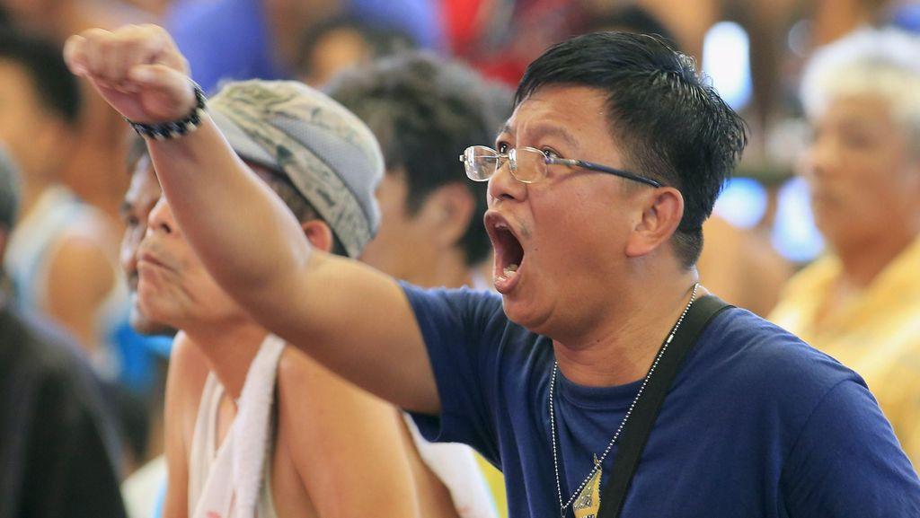Serunya Warga Filipina Nonton Pertarungan Pacquiao