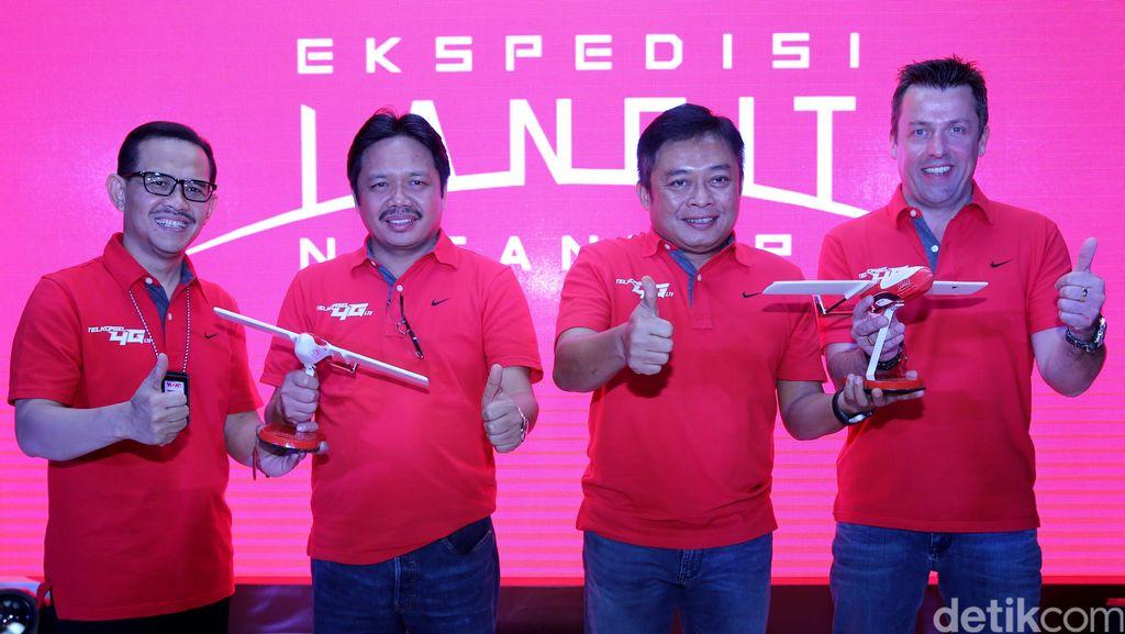 Drone Elang Nusa Telkomsel Mengudara
