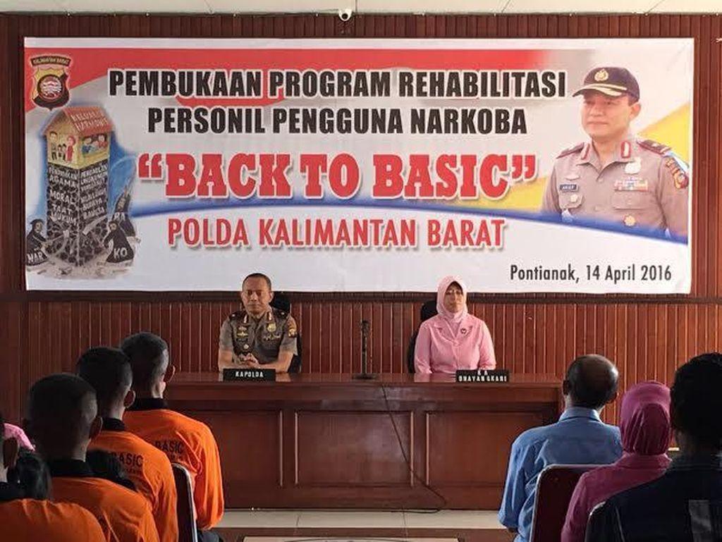 42 Orang Polisi di Kalimantan Barat Jalani Rehab Narkoba