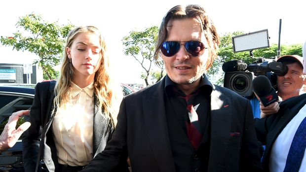 Johnny Depp dan Amber Heard, 2016.