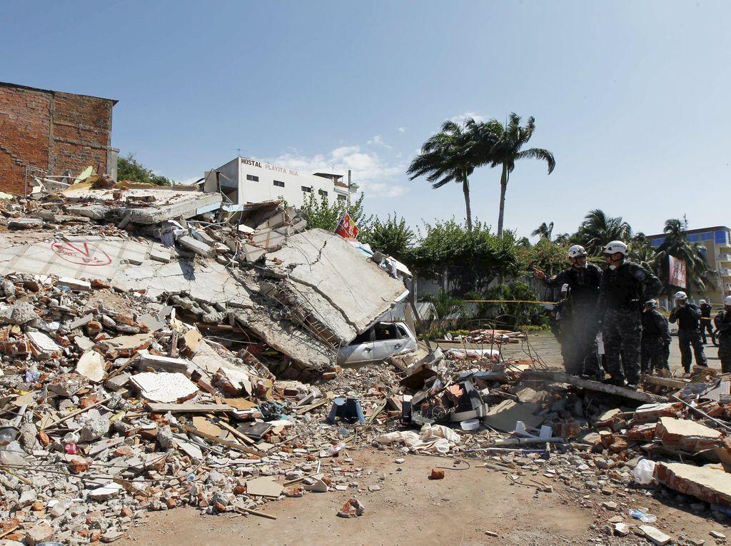 262 Orang Tewas Akibat Gempa Ekuador, Pencarian Korban Terus Dilakukan