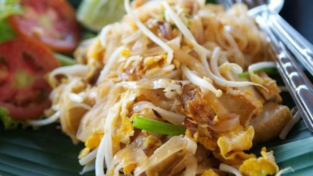 Pad Thai Fresh Mouthwatering Close-Up