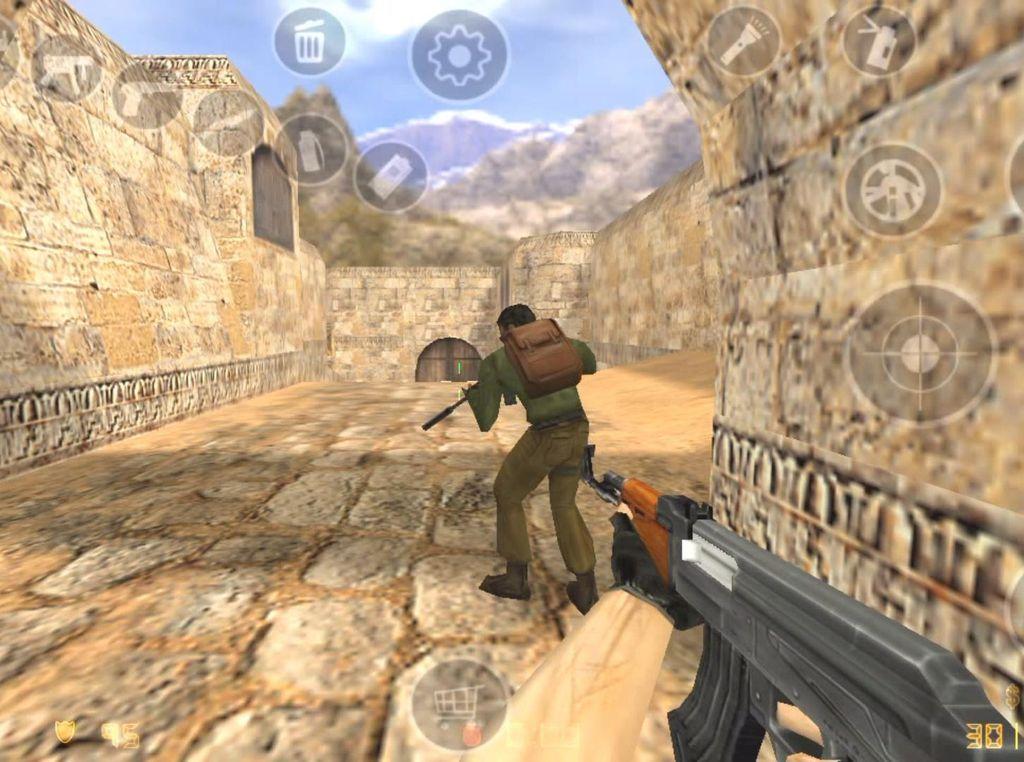 Counter-Strike 1.6 Adu Tembak di Android