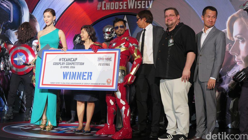 Kontes Cosplay di Blue Carpet Captain America: Civil War