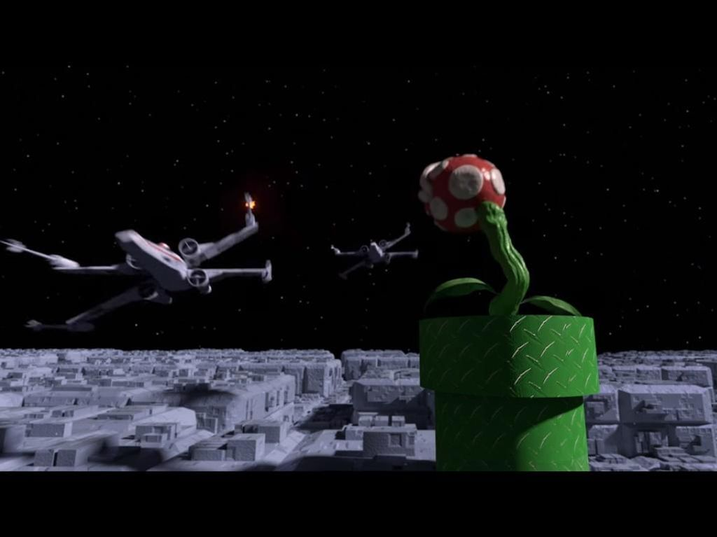 Super Mario Bros Duet dengan Star Wars