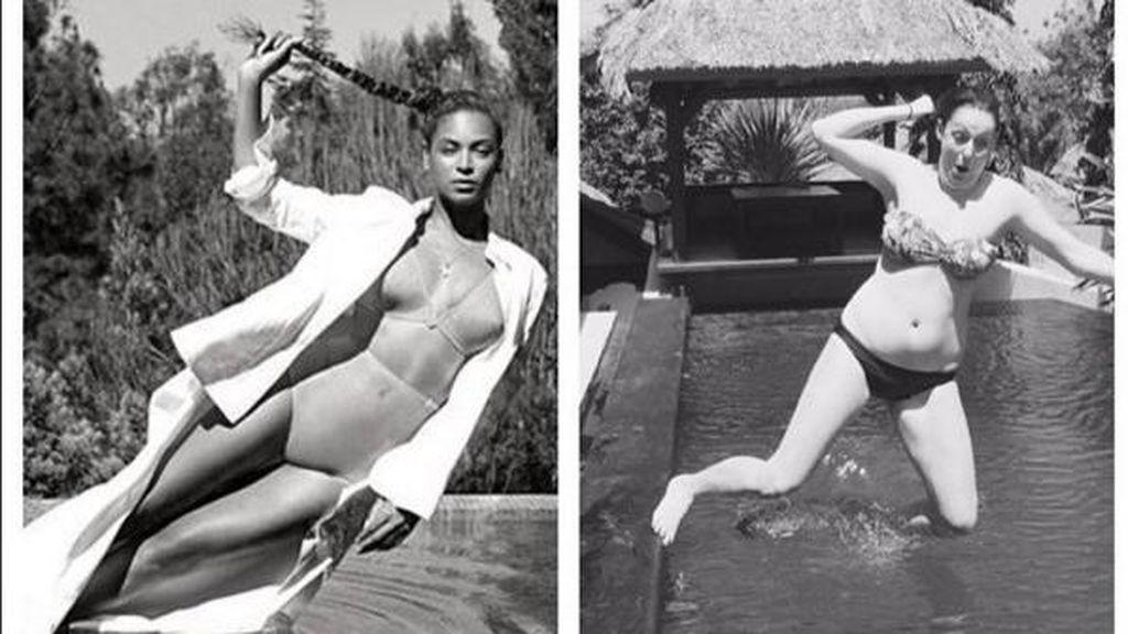 Lucu! Versi Gagal Foto Ikonik Kim Kardashian Sampai Beyonce