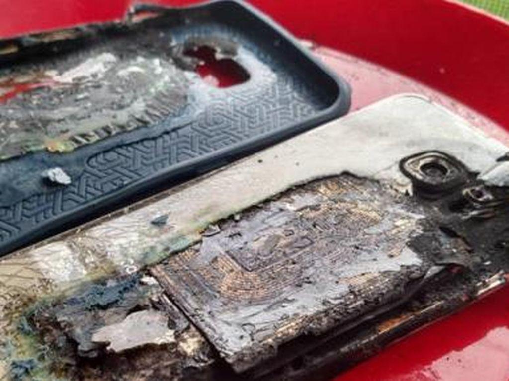Galaxy S6 Edge+ Overheat Hingga Terbakar di Kasur