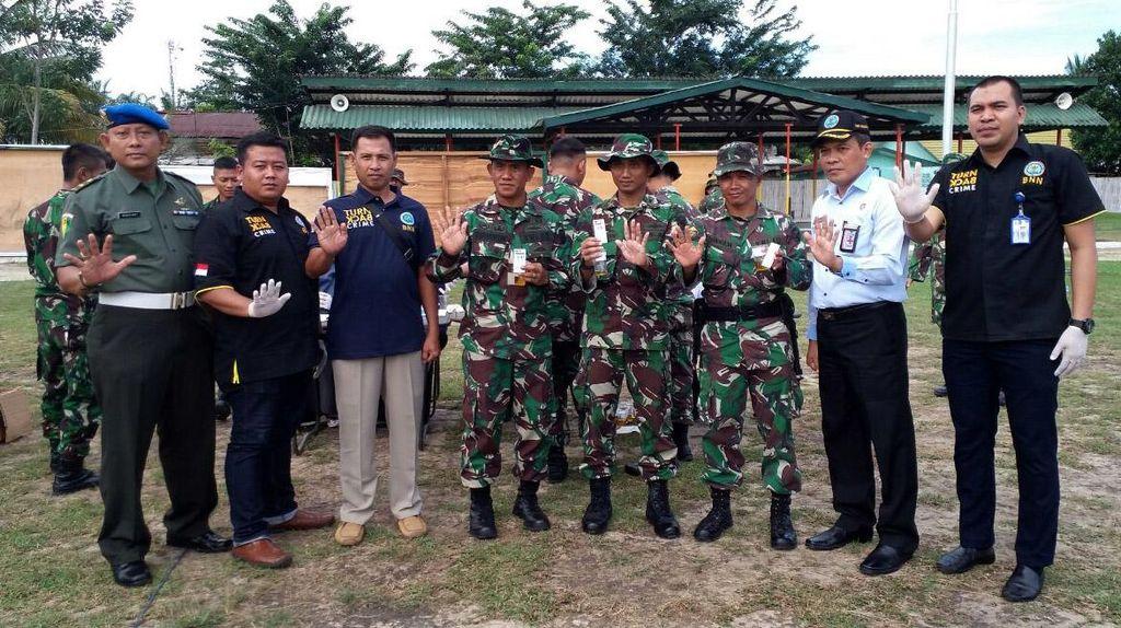 Anggota Batalyon Zeni Jalani Tes Narkoba