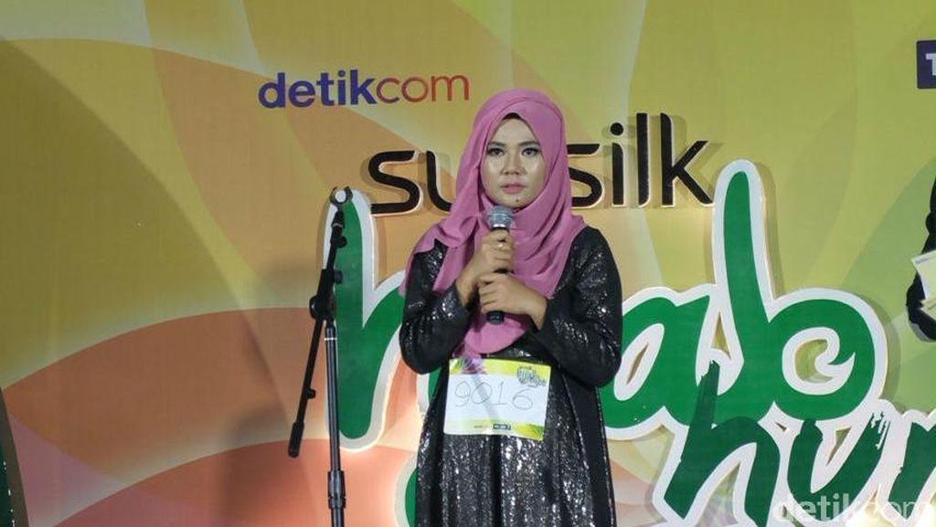 Aksi Ceramah yang Mengharukan di Audisi Sunsilk Hijab Hunt Makassar