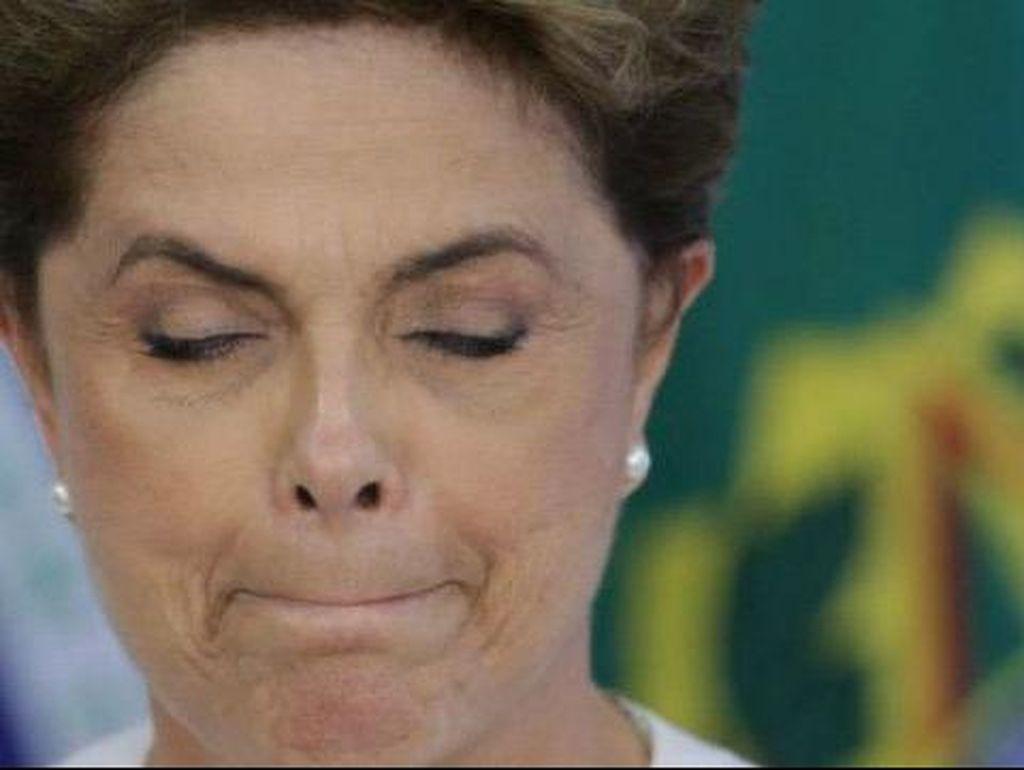 Air Mata Mewarnai Pidato Terakhir Dilma Rousseff Sebagai Presiden Brasil