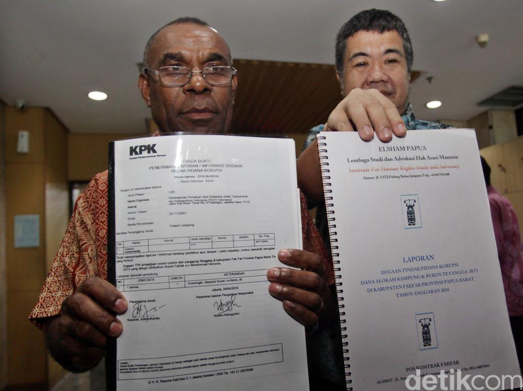 Eks Wakil Bupati Fakfak Laporkan Bupati Fakfak ke KPK