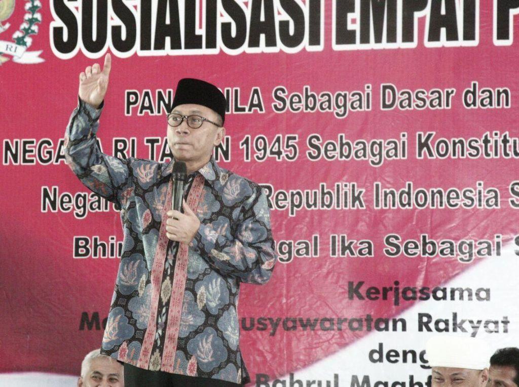 Kasus Pancagila, Ketua MPR: Orang Tak Paham Pancasila, Mau Berapa Ditahan?