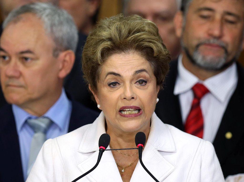 Dilma Rousseff Sampaikan Pidato Terakhir