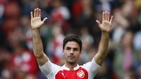 Nomor 6 diisi Mikel Arteta yang kini menjabat sebagai manajer Arsenal. Arteta punya catatan 42 gol di Liga Inggris semasa bermain (Reuters/Stefan Wermuth)