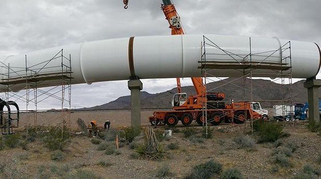 Mengintip Uji Coba Kereta Super Ngebut Hyperloop
