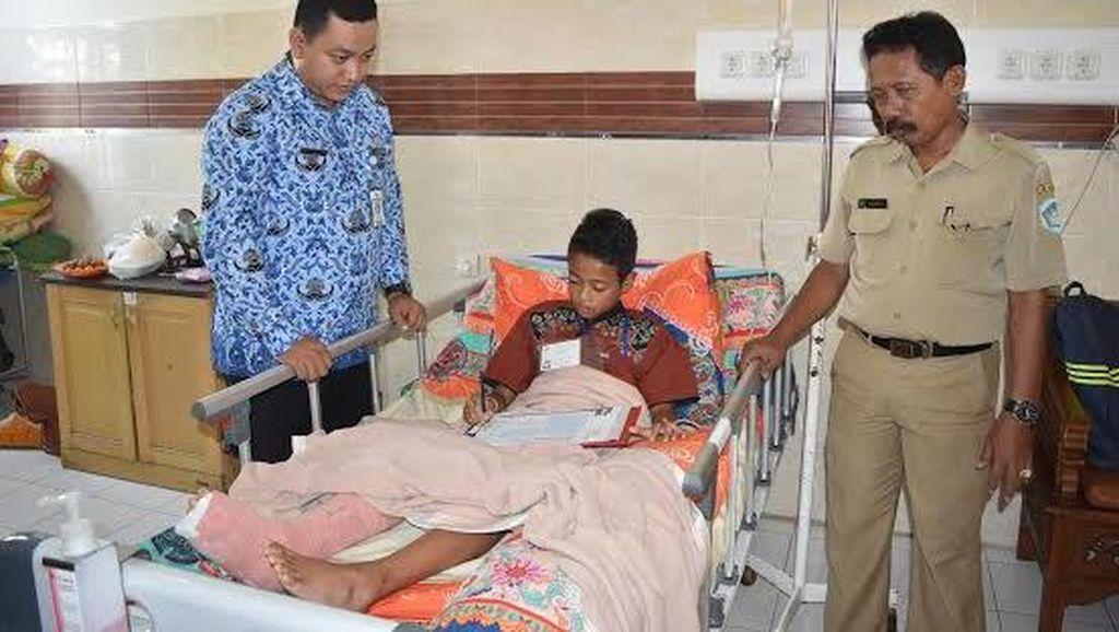Jatuh, Putra Kapten Persela Jalani Ujian di Rumah Sakit