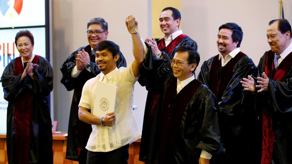 Manny Pacquiao Jadi Senator Filipina