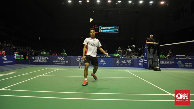 Anthony Sinisuka Ginting menjadi salah satu dari lima wakil Indonesia yang melaju ke perempat final Korea Terbuka 2017.