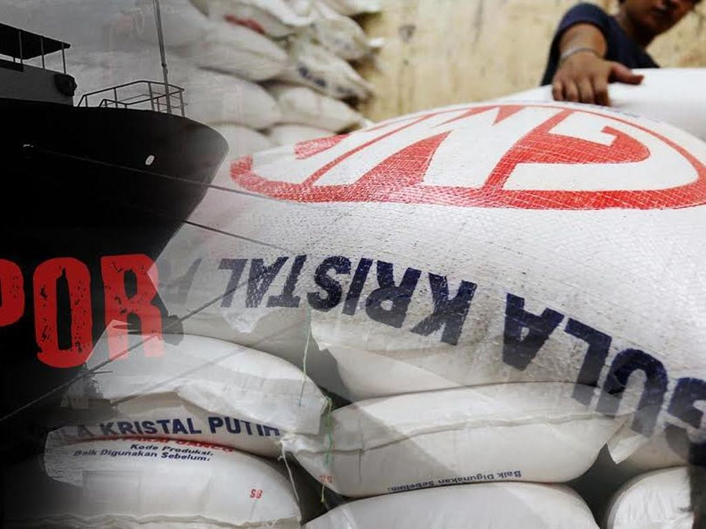 22.000 Ton Gula Impor dari India Sudah Masuk RI