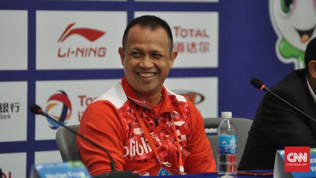 Kabid Binpres PBSI, Rexy Mainaky. (CNN Indonesia/Putra Tegar)