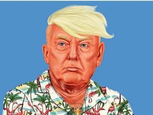 Ulah Seniman Shimoni Ubah Donald Trump Jadi Hipster