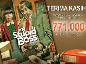 5 Hari Tayang, My Stupid Boss Raih 700 Ribu Penonton