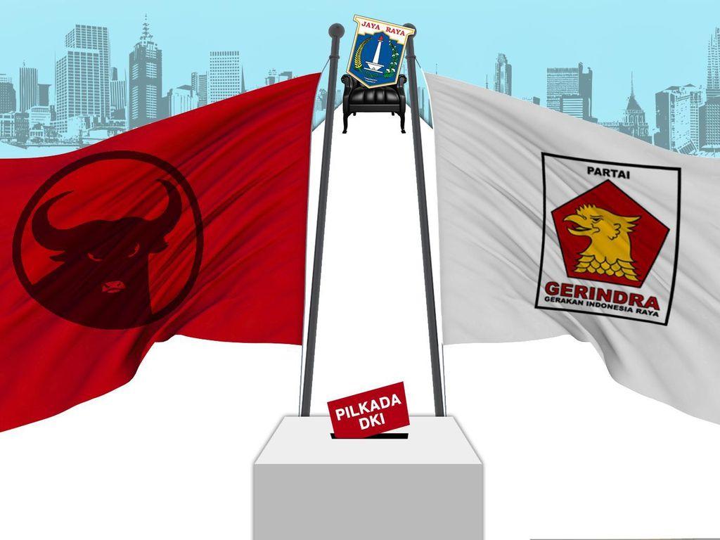 PDIP-Gerindra Dominan di Ibu Kota