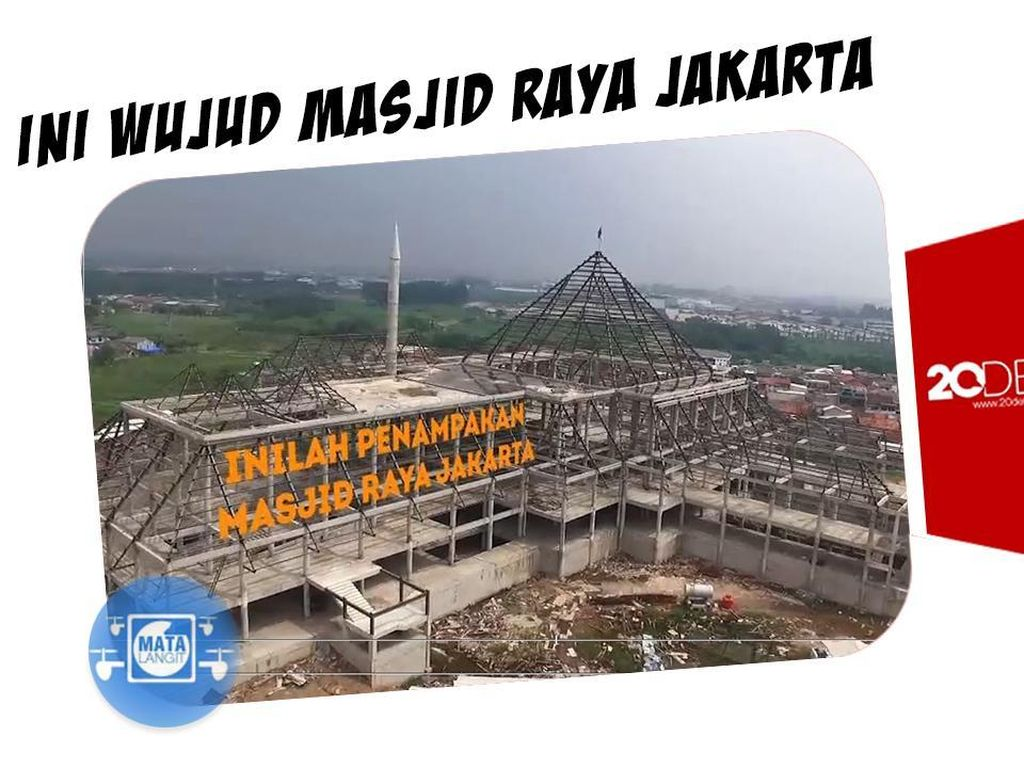 Jakarta Bakal Punya Masjid Raya, Ini Wujudnya dari Udara
