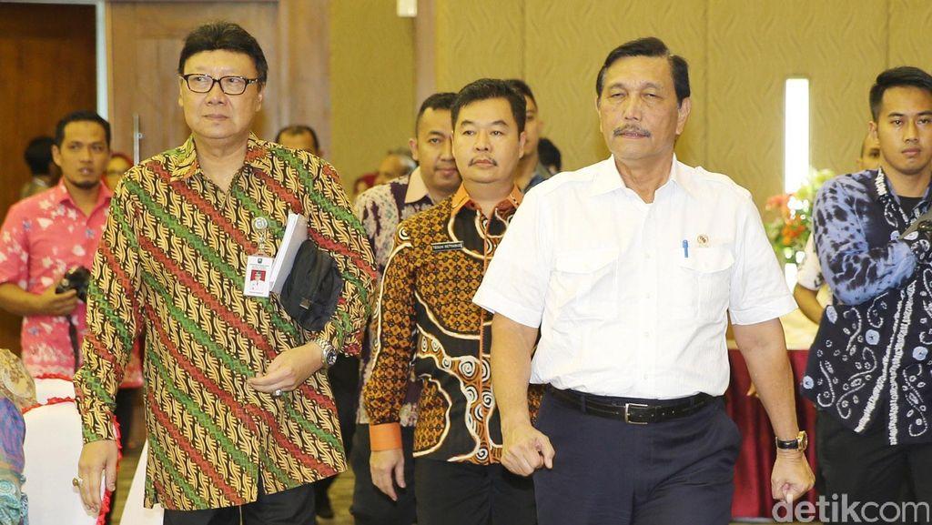 Luhut dan Tjahjo Kumolo Buka Pembekalan Kepala Daerah