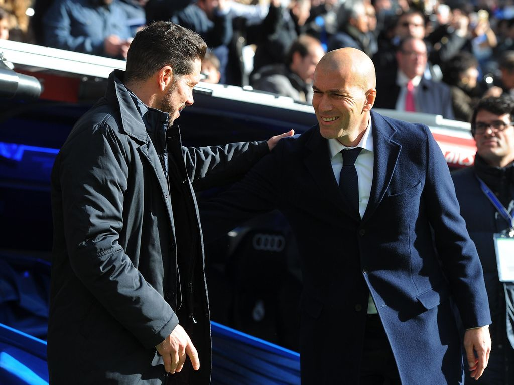 Zinedine Zidane Dominan Atas Diego Simeone di Derby Madrid