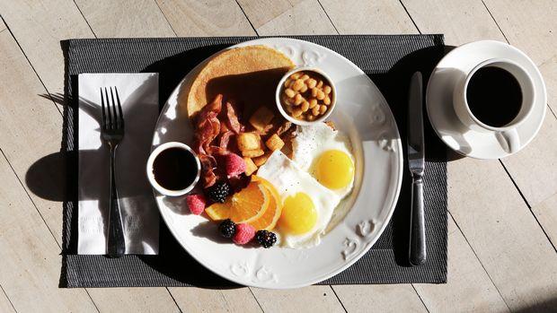 Ilustrasi menu sarapan pagi