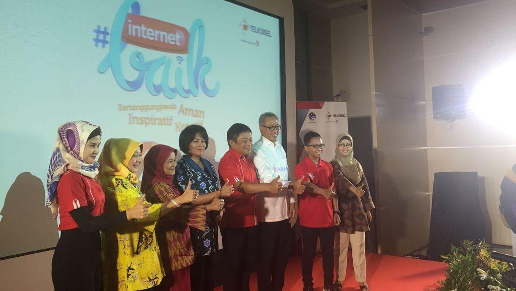 Kominfo dan Telkomsel Galang Aksi Internet Baik