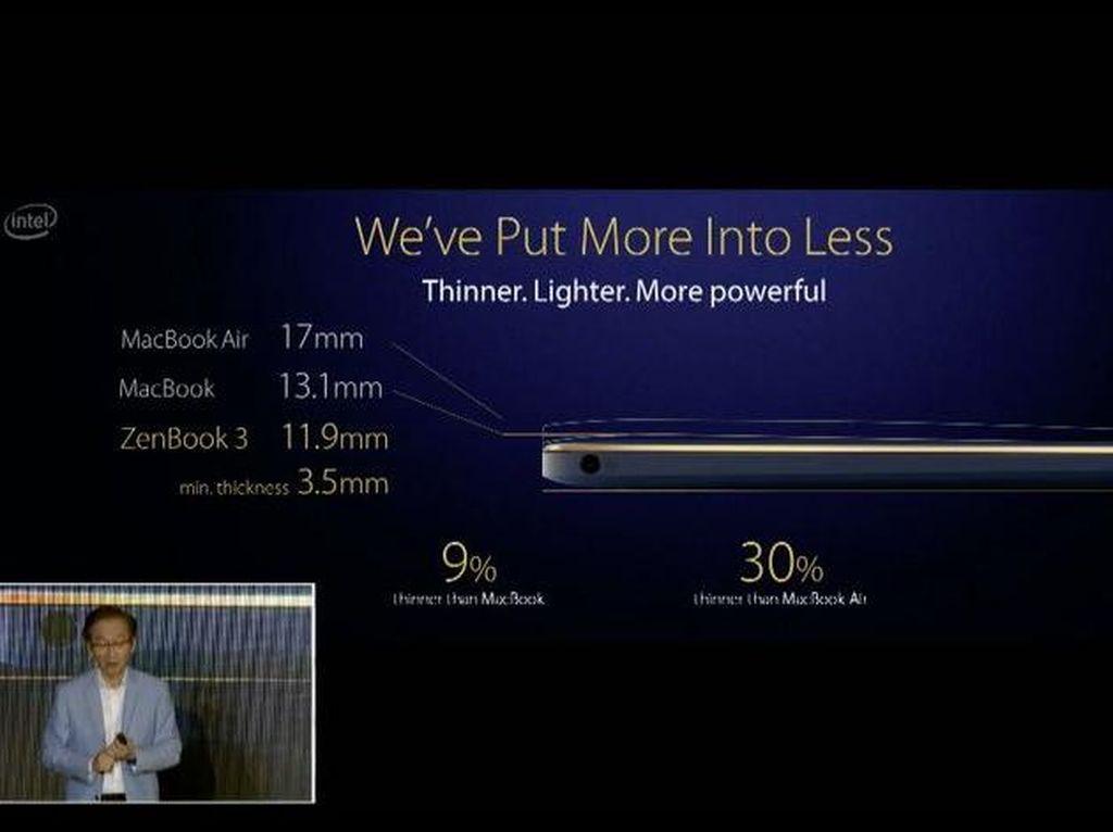 ZenBook 3 Diklaim Lebih Kencang dari MacBook