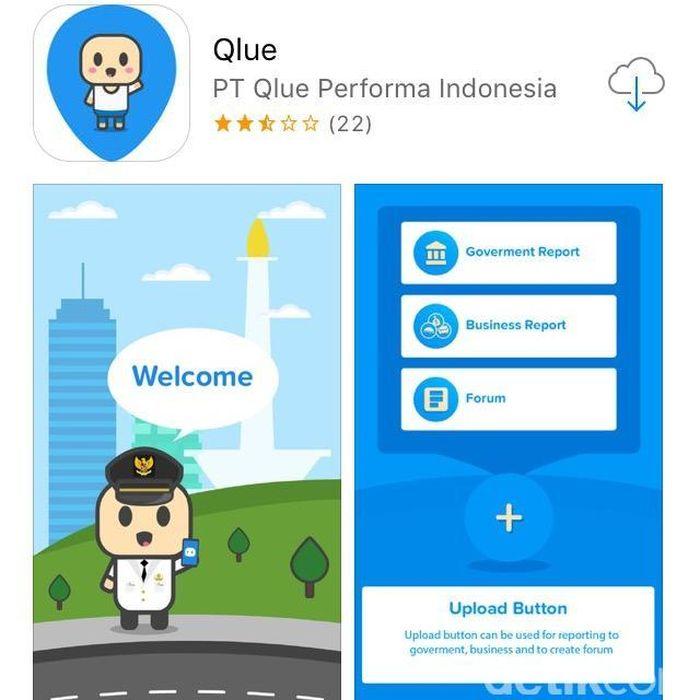 Foto: Aplikasi Qlue (Screencapture)