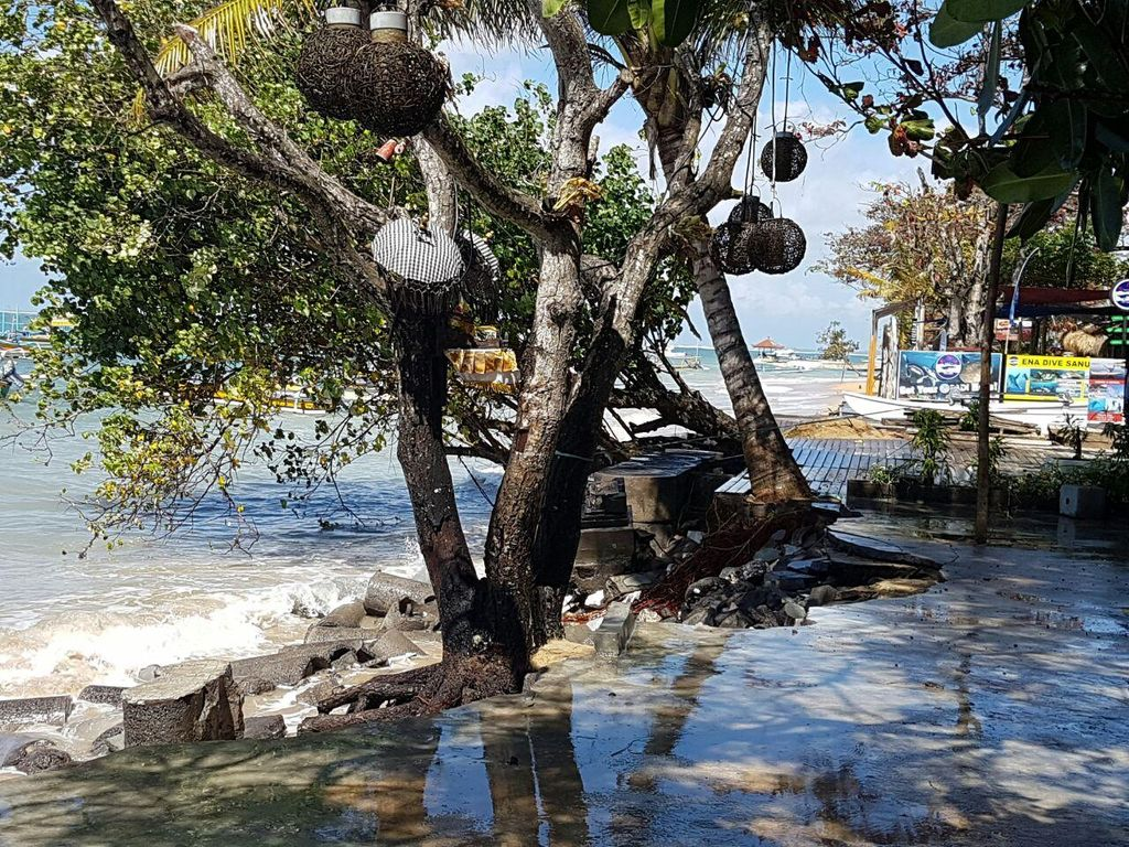 Hasil Pantauan BPBD Bali Terkait Terjangan Air Laut ke Jalan dan Hotel di Sanur