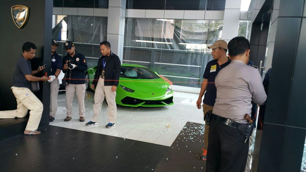 Showroom Lamborghini Jakarta Ditembak, Tak Ada Korban