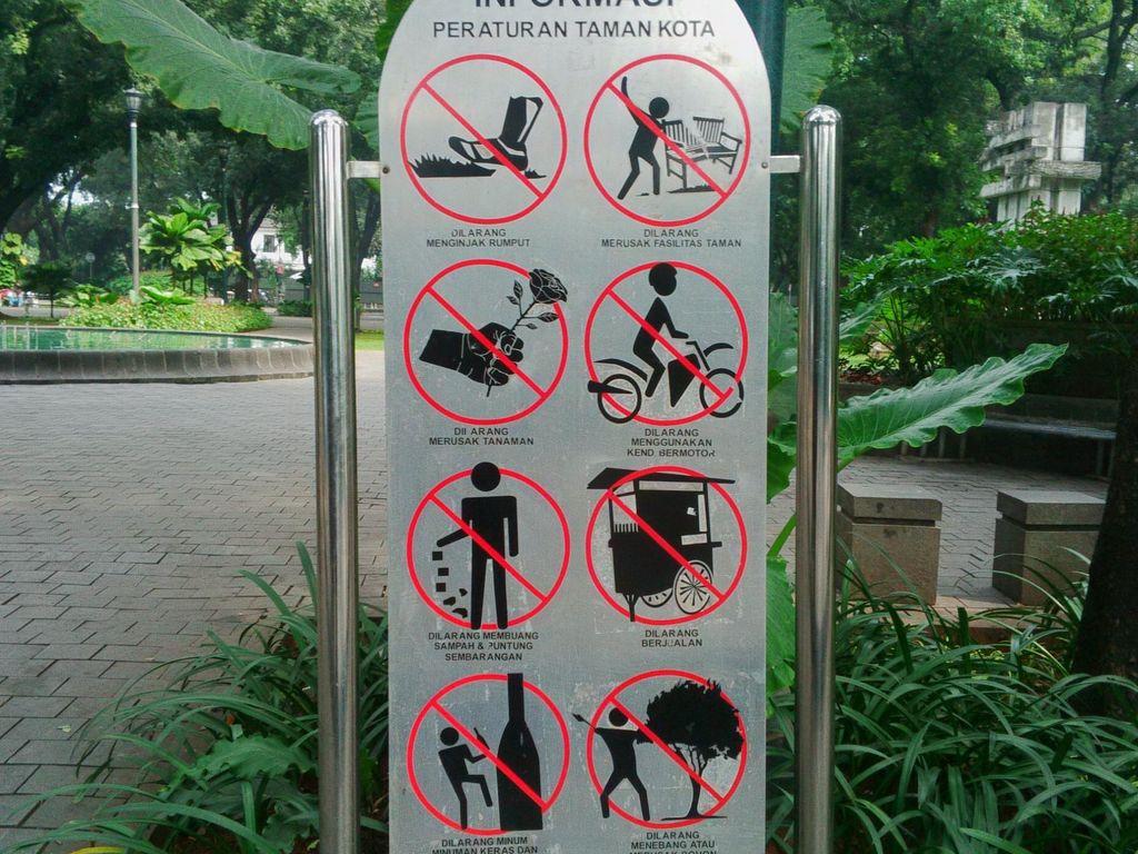 Taman Suropati Sepi Usai Penertiban, Pengunjung Berharap Ada Parkiran Khusus