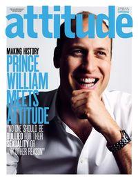 Pangeran William di sampul majalah LGBT Inggris Attitude pada 2016 lalu.