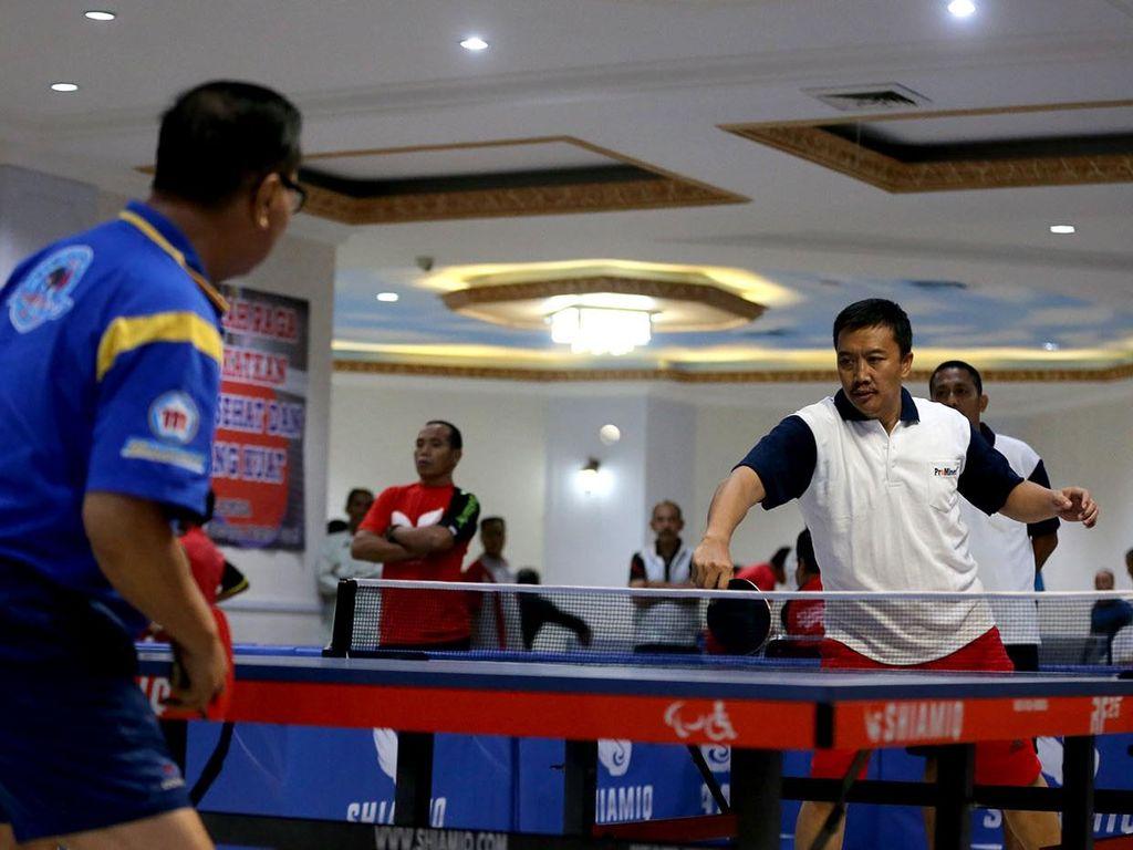 Dua Ketum PP PTMSI yang Berseteru Islah di Turnamen Tenis Meja Ramadan Cup