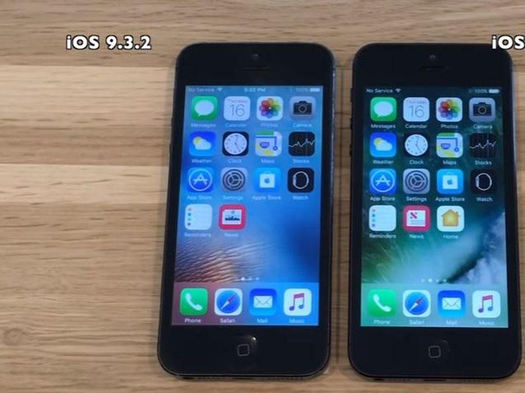 Adu Cepat iOS 10 Beta 1 dan iOS 9.3.2