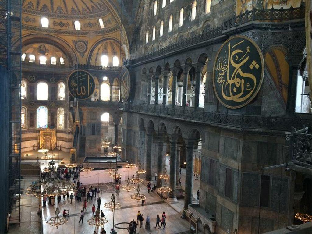 Hagia Sophia Jadi Masjid, Hiasan Dalam Masjid Bakal Ditutupi