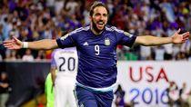 Gaya Main Gonzalo Higuain saat Bela Timnas Argentina