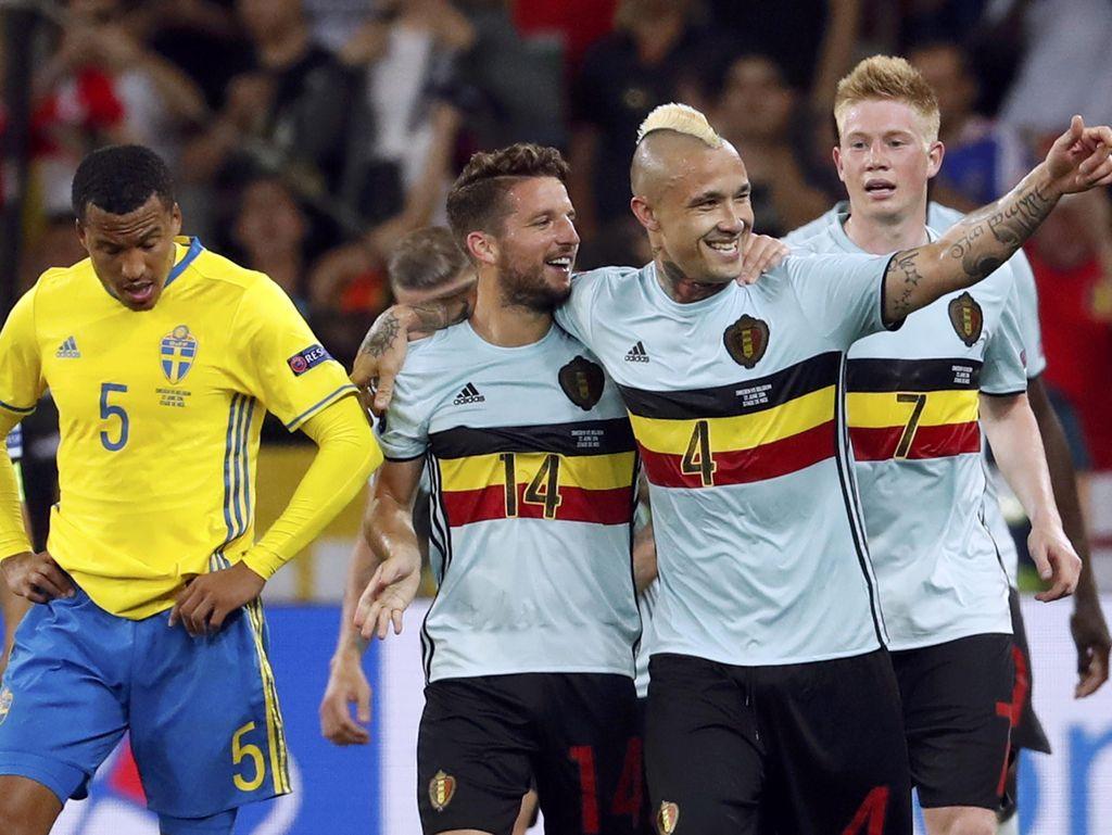 Taklukkan Swedia, Belgia Lolos sebagai Runner-up Grup E