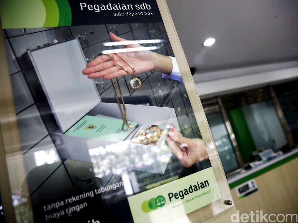 Transaksi Jual Beli Emas di Pegadaian Naik Nyaris 100%