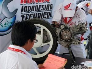 Honda Uji Keahlian Mekanik Motor dan Service Advisor