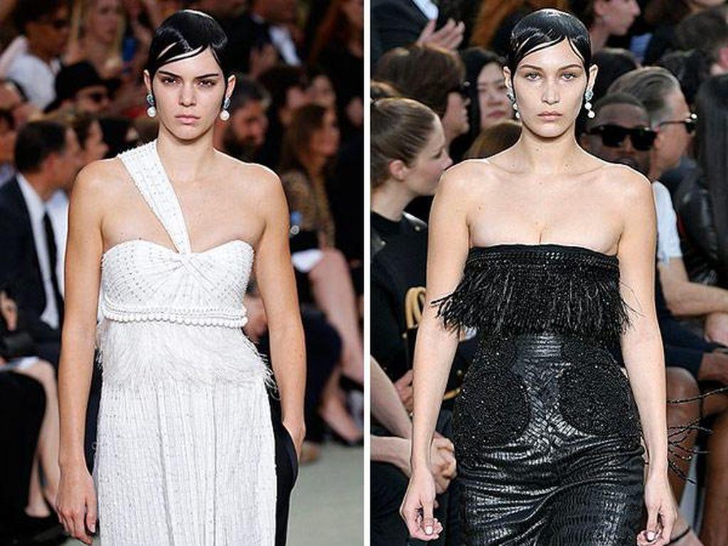 Ketika Kendall Jenner & Bella Hadid Tampil dengan Rambut Lepek di Givenchy